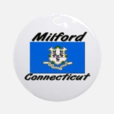 Milford Connecticut Ornament (Round)