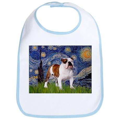 Starry Night English Bulldog Bib
