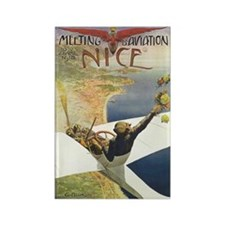 Vintage Nice Aviation Poster Rectangle Magnet