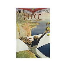 Vintage Nice Aviation Poster Rectangle Magnet (10
