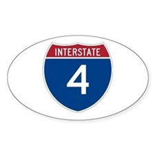 Interstate 4 Oval Decal