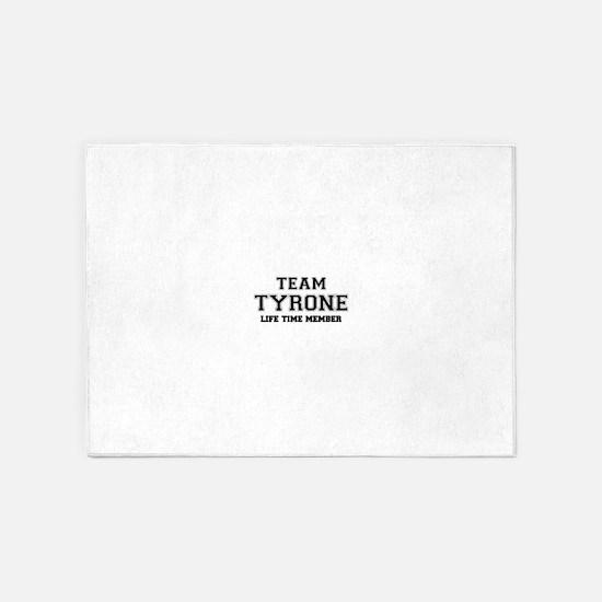 Team TYRONE, life time member 5'x7'Area Rug