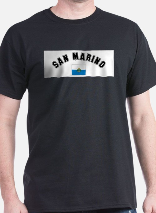 San Marino Flag Ash Grey T-Shirt
