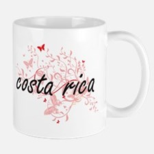 costa rica Artistic Design with Butterflies Mugs