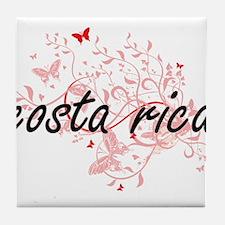 costa rica Artistic Design with Butte Tile Coaster