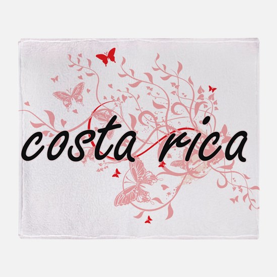costa rica Artistic Design with Butt Throw Blanket