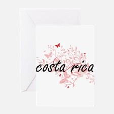 costa rica Artistic Design with But Greeting Cards
