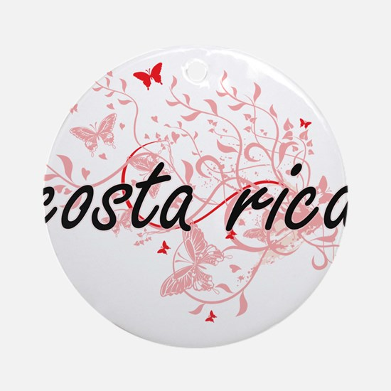 costa rica Artistic Design with But Round Ornament