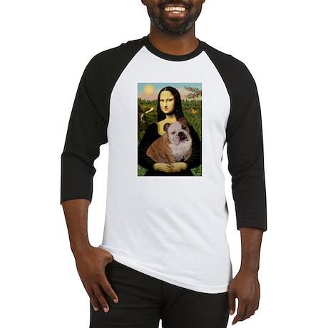 Mona Lisa & English Bulldog Baseball Jersey