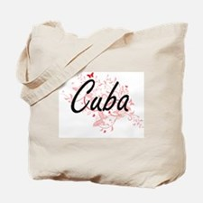 Cuba Artistic Design with Butterflies Tote Bag