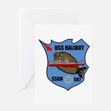 USS Halibut (SSGN 587) Greeting Card