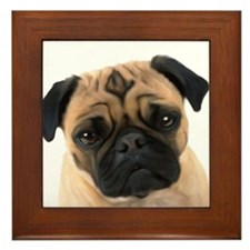 Pugs Framed Tile