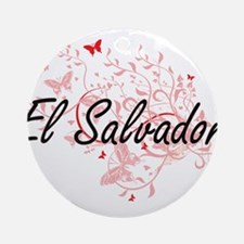 El Salvador Artistic Design with Bu Round Ornament