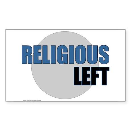 Religious Left II Rectangle Sticker