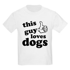 This guy loves dogs T-Shirt