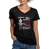 Wine Womens V-Neck T-shirts (Dark)