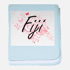 Fiji Artistic Design with Butterflies baby blanket