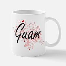 Guam Artistic Design with Butterflies Mugs