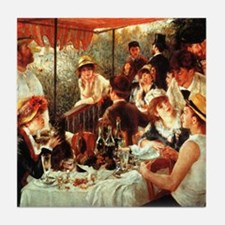 Renoir Boating Party Tile Coaster