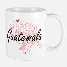Guatemala Artistic Design with Butterflies Mugs