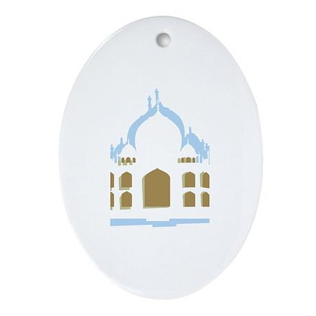 Taj Mahal Oval Ornament
