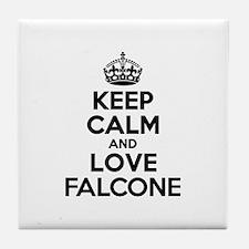 Keep Calm and Love FALCONE Tile Coaster