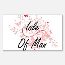 Isle Of Man Artistic Design with Butterfli Decal