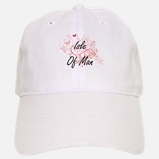 Isle Of Man Artistic Design with Butterflies Baseball Baseball Cap