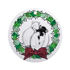 Rat Hug Wreath Ornament (Round)