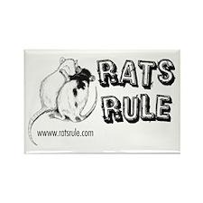 Rats Rule Rat Hug Rectangle Magnet