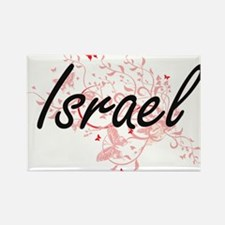 Israel Artistic Design with Butterflies Magnets
