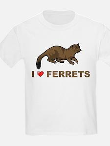 I Love Ferret T-Shirt