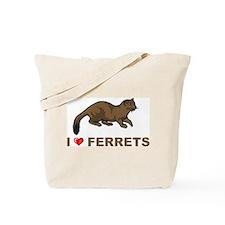 I Love Ferret Tote Bag
