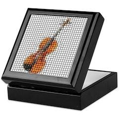 Violin / Fiddle Mosaic Keepsake Box