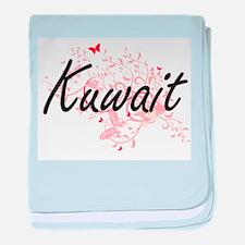 Kuwait Artistic Design with Butterfli baby blanket