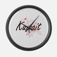Kuwait Artistic Design with Butte Large Wall Clock