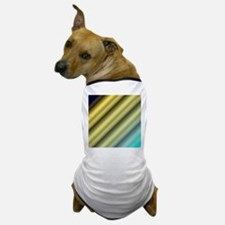 blue and gold stripes Dog T-Shirt