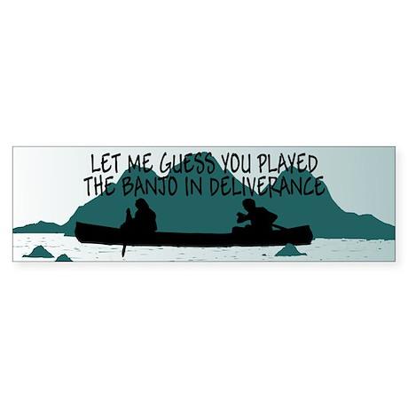 Insulting slogan Deliverance Bumper Sticker