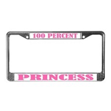 100 Percent Princess License Plate Frame