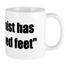 Oddly shaped feet Mug
