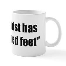 Oddly shaped feet Small Mug