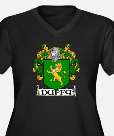 Duffy Coat of Arms Women's Plus Size V-Neck Dark T