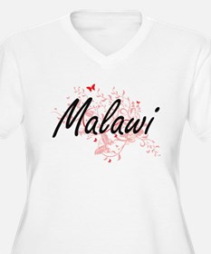 Malawi Artistic Design with Butt Plus Size T-Shirt