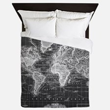 World map Queen Duvet