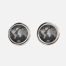 Cool Geographer Round Cufflinks
