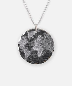 Funny World map Necklace