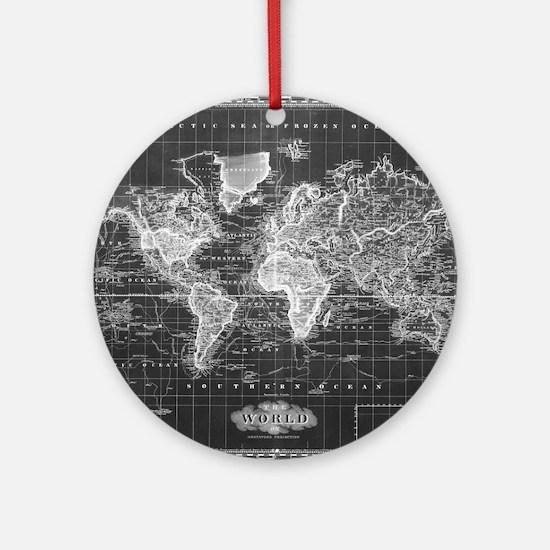 Map Round Ornament