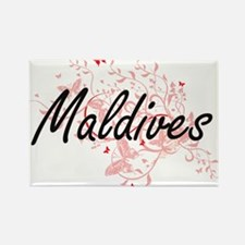 Maldives Artistic Design with Butterflies Magnets