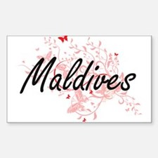 Maldives Artistic Design with Butterflies Decal