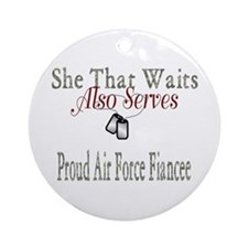 proud air force fiancee Ornament (Round)